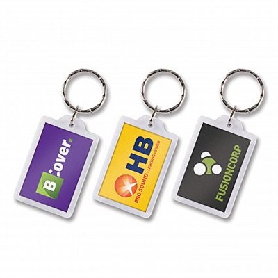 Keyrings Plastic lens key rings Square or Rectangle