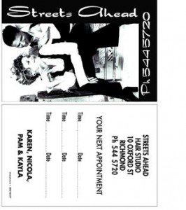 Streets Ahead Business card
