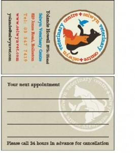 Selwyn Vet Clinic Business card
