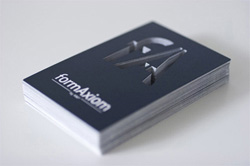 Business card die cut